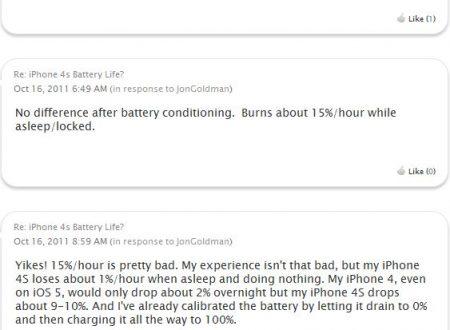 Iphone 4s e problemi con la batteria risolti?