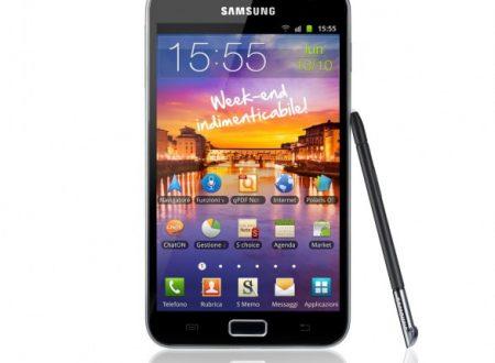 Da oggi Galaxy Note in vendita a…