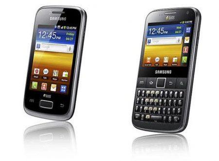 Nuovi Samsung Galaxy Y Duos e Galaxy Pro Duos
