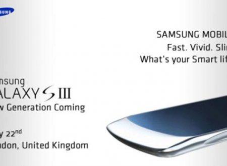 Samsung Galaxy S3 il 22 Maggio?
