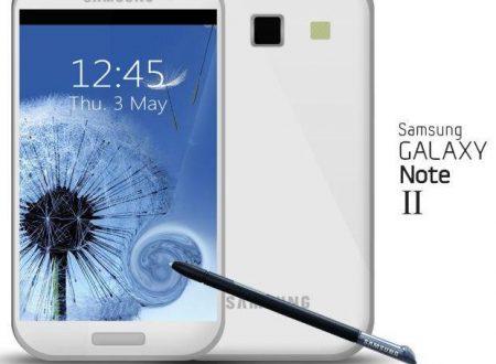 Prima indiscrezioni sul nuovo Galaxy Note II