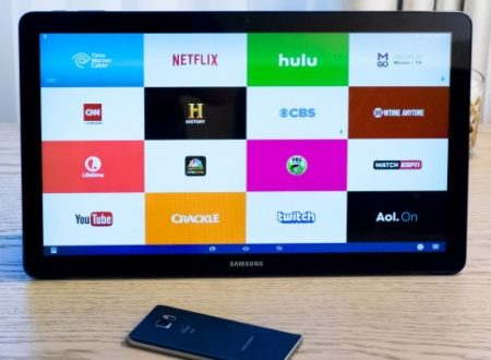 Galaxy View presentato da Samsung con un'infografica